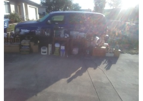 Garage sale! toddler bikes, collectables and dishware oh my!